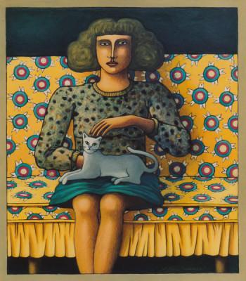 Portraits imaginaires Papier marouflé
